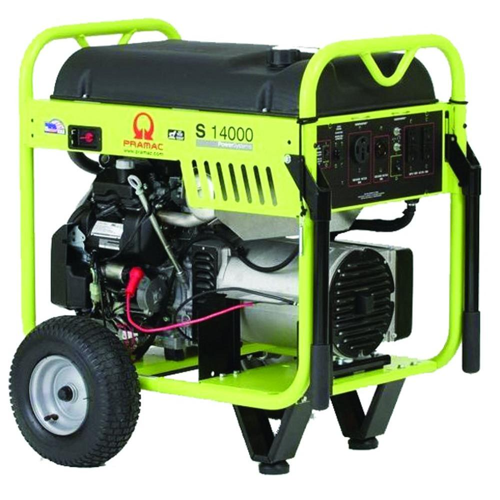 Pramac 14,000-Watt Gasoline Powered Electric Start Portable Generator with Honda GX630 Engine