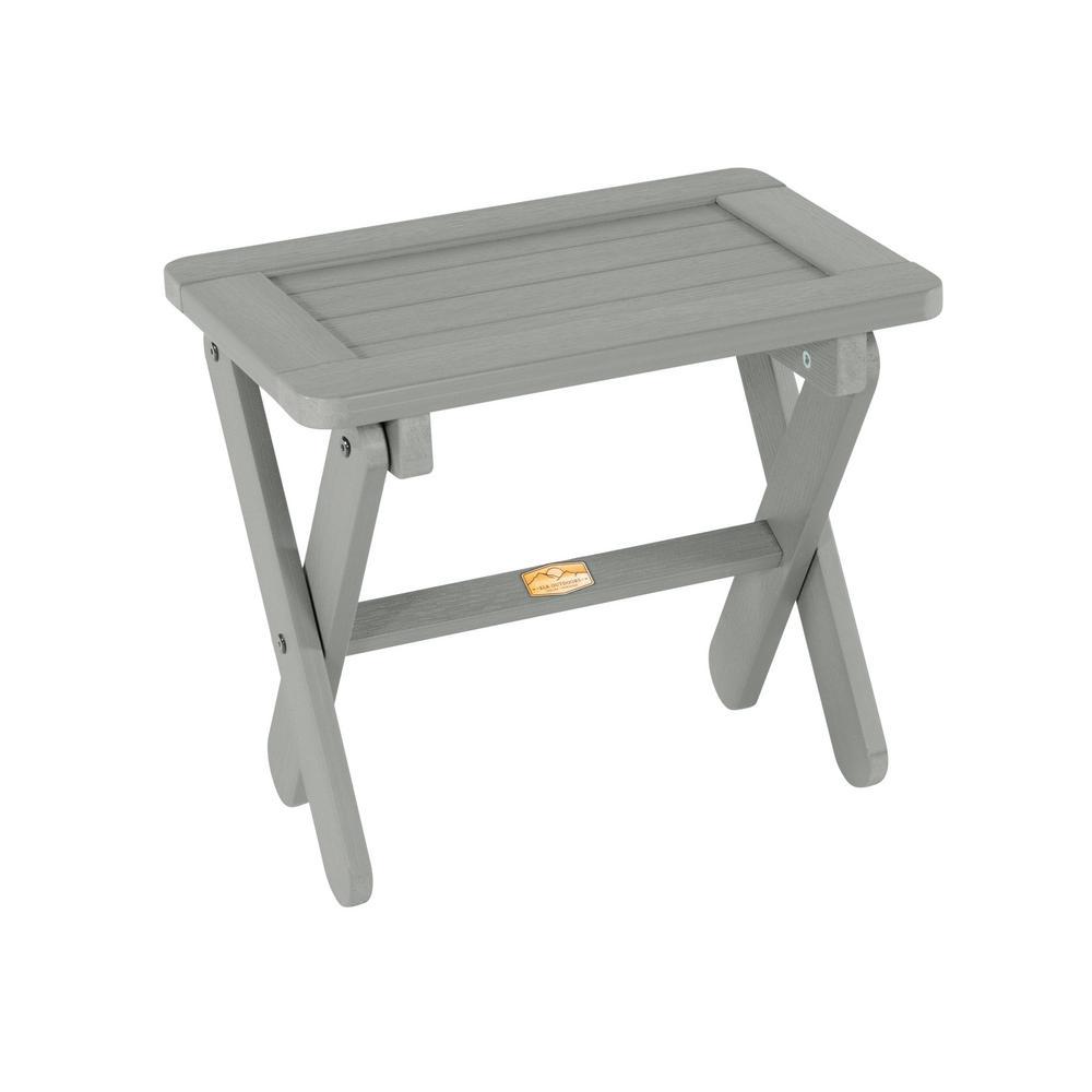 Arabella Coastal Teak Rectangular Plastic Outdoor Side Table