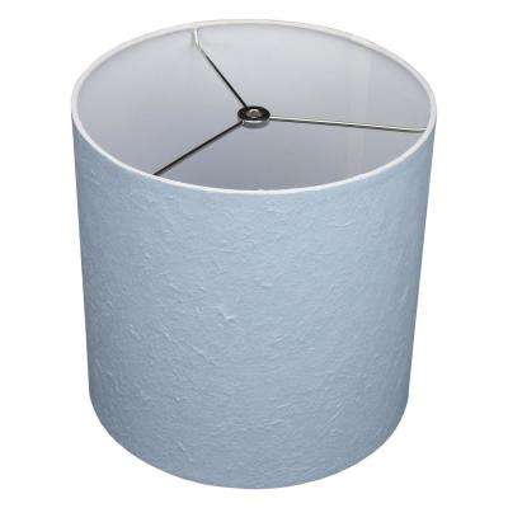 10.5 in. Top Diameter x 10.5 in. Bottom Diameter x 10.5 in. Height Paper Kozo Pastel Blue Drum Lamp Shade
