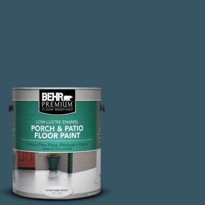 1 gal. #S460-7 Deep Breath Low-Lustre Porch and Patio Floor Paint
