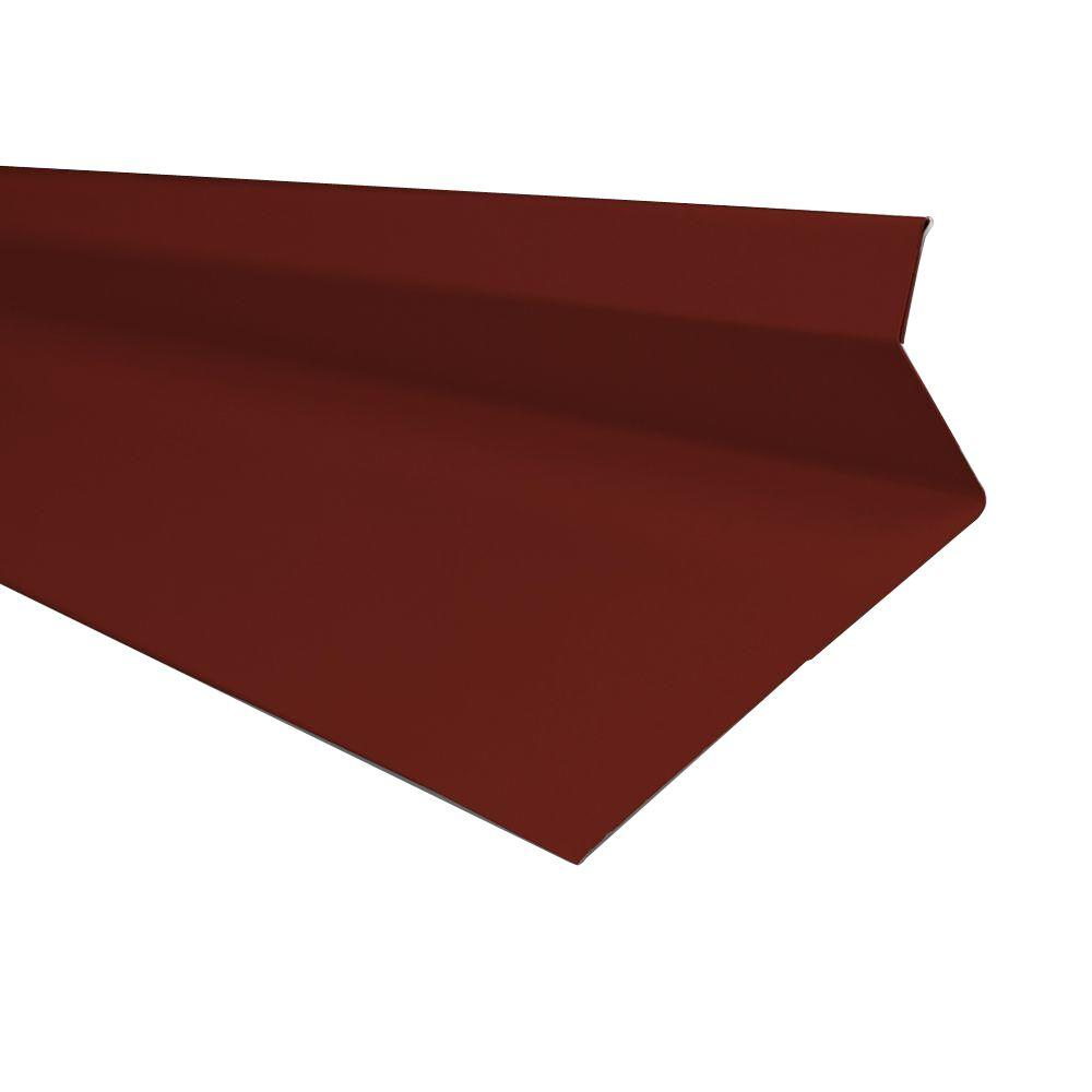 Metal Sales 4.25 in. x 10.5 ft. Drip Edge Flashing Cap in Red