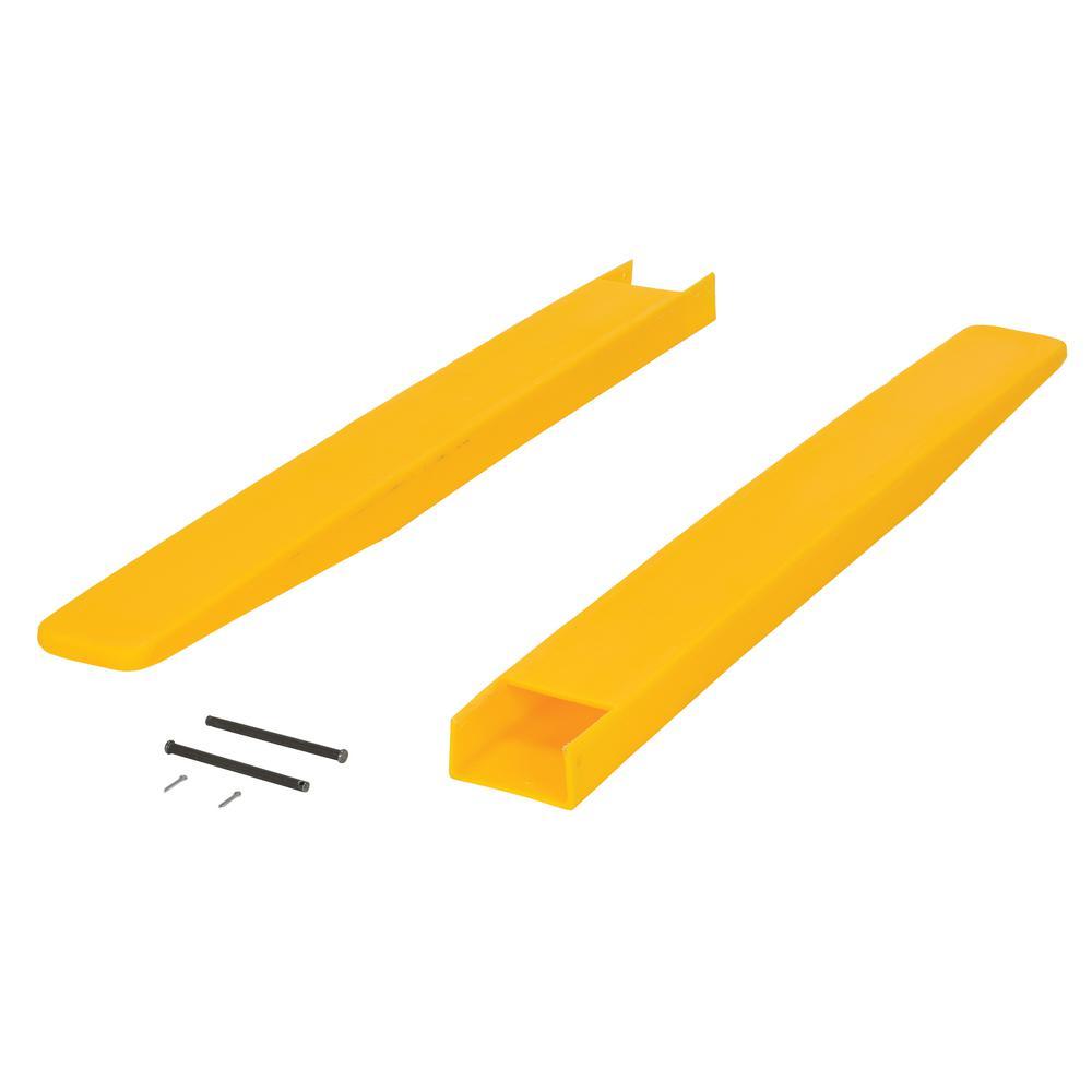 Vestil F4-42 Polyethylene Fork Blade Protectors 4 x 42 Yellow