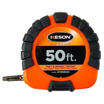 50 ft. Closed Reel Steel Tape, 3x1 Rewind – SAE and M
