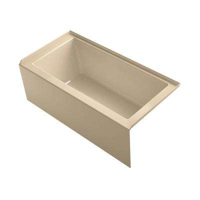Underscore 60 in. Right-Hand Drain Rectangular Alcove Bathtub in Mexican Sand