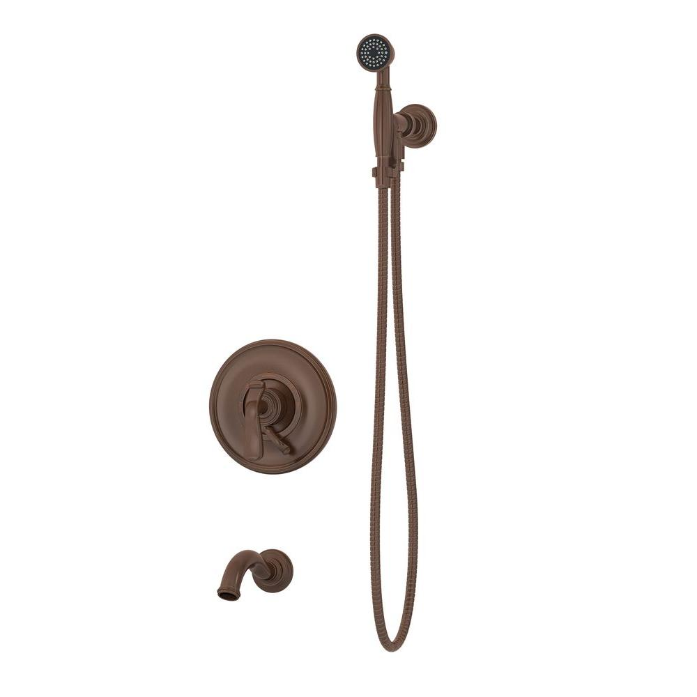 Symmons Winslet 2-Handle 1-Spray Tub and Shower Faucet with Hand Shower in Oil Rubbed Bronze