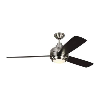 TOB by Thomas O'Brien Aerotour 56 in. Integrated LED Indoor Polished Nickel Ceiling Fan with Light Kit and Remote