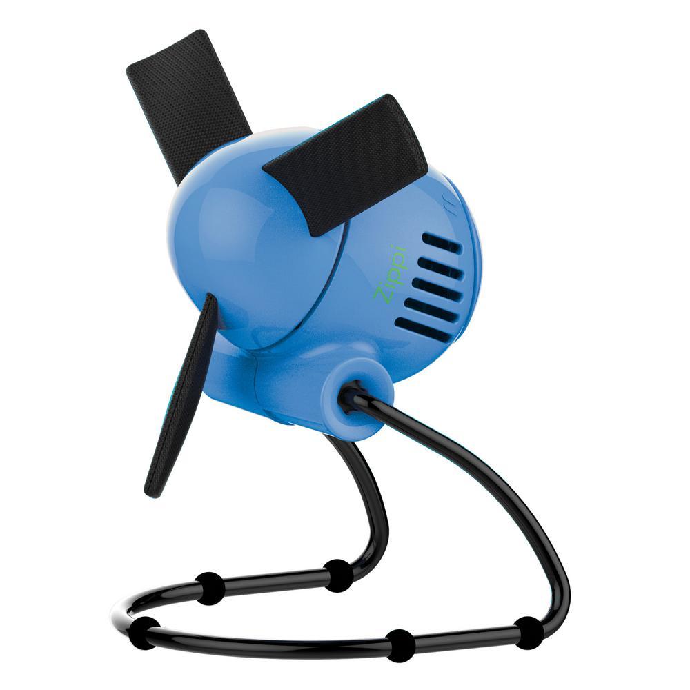 Zippi 7 in. Personal Soft-Blade Fan in Blueberry