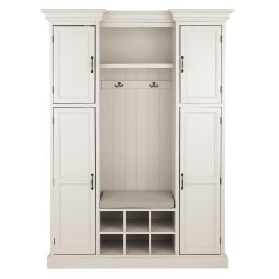 "Royce Polar White 60"" Hall Tree"