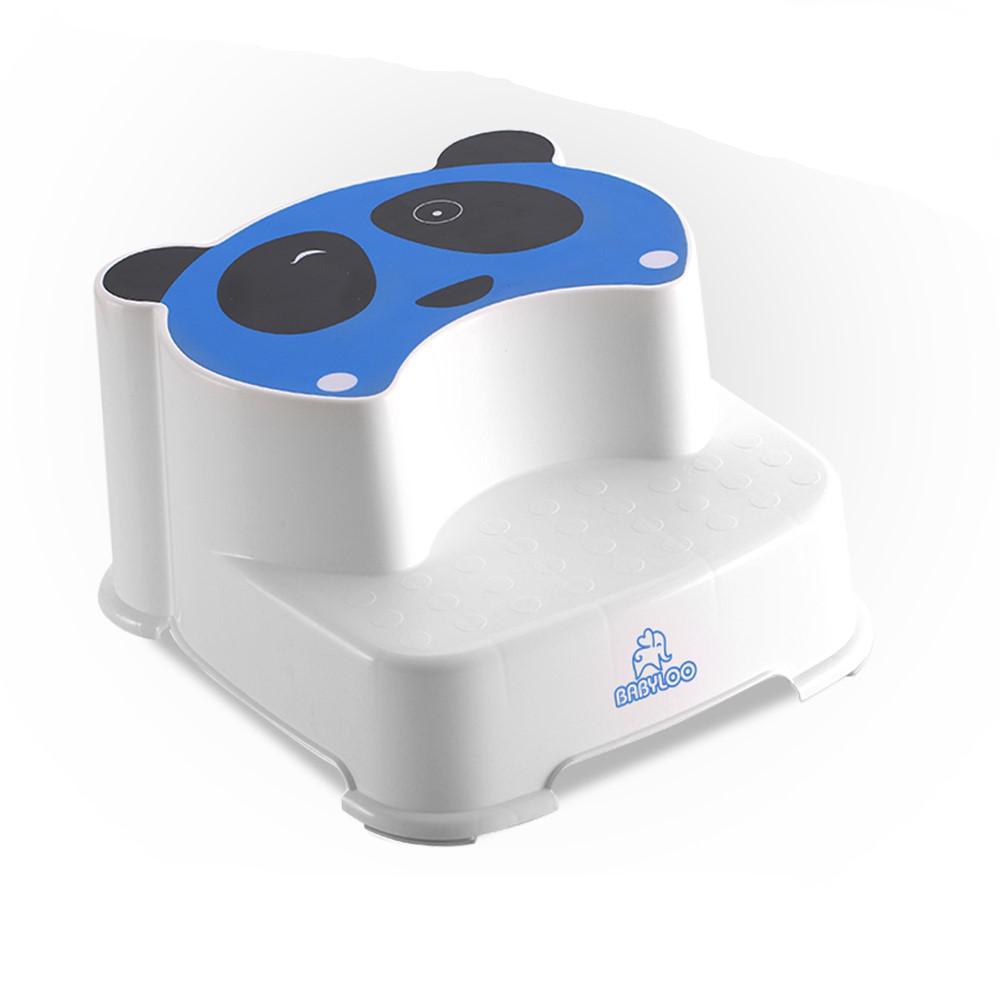 Awe Inspiring Babyloo Childrens Panda Step Stool In Blue Short Links Chair Design For Home Short Linksinfo