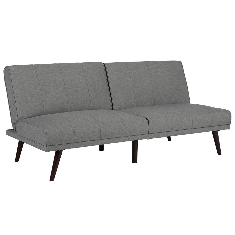 Fabulous Dhp Lone Pine Gray Futon 2119429 The Home Depot Dailytribune Chair Design For Home Dailytribuneorg