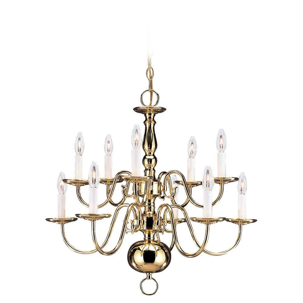 Sea gull lighting traditional 10 light polished brass chandelier sea gull lighting traditional 10 light polished brass chandelier aloadofball Choice Image