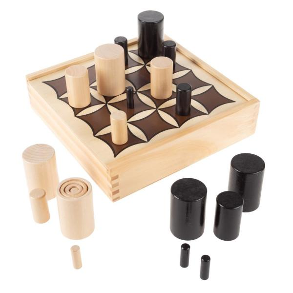 Wooden Tabletop 3D Tic Tac Toe Board Game