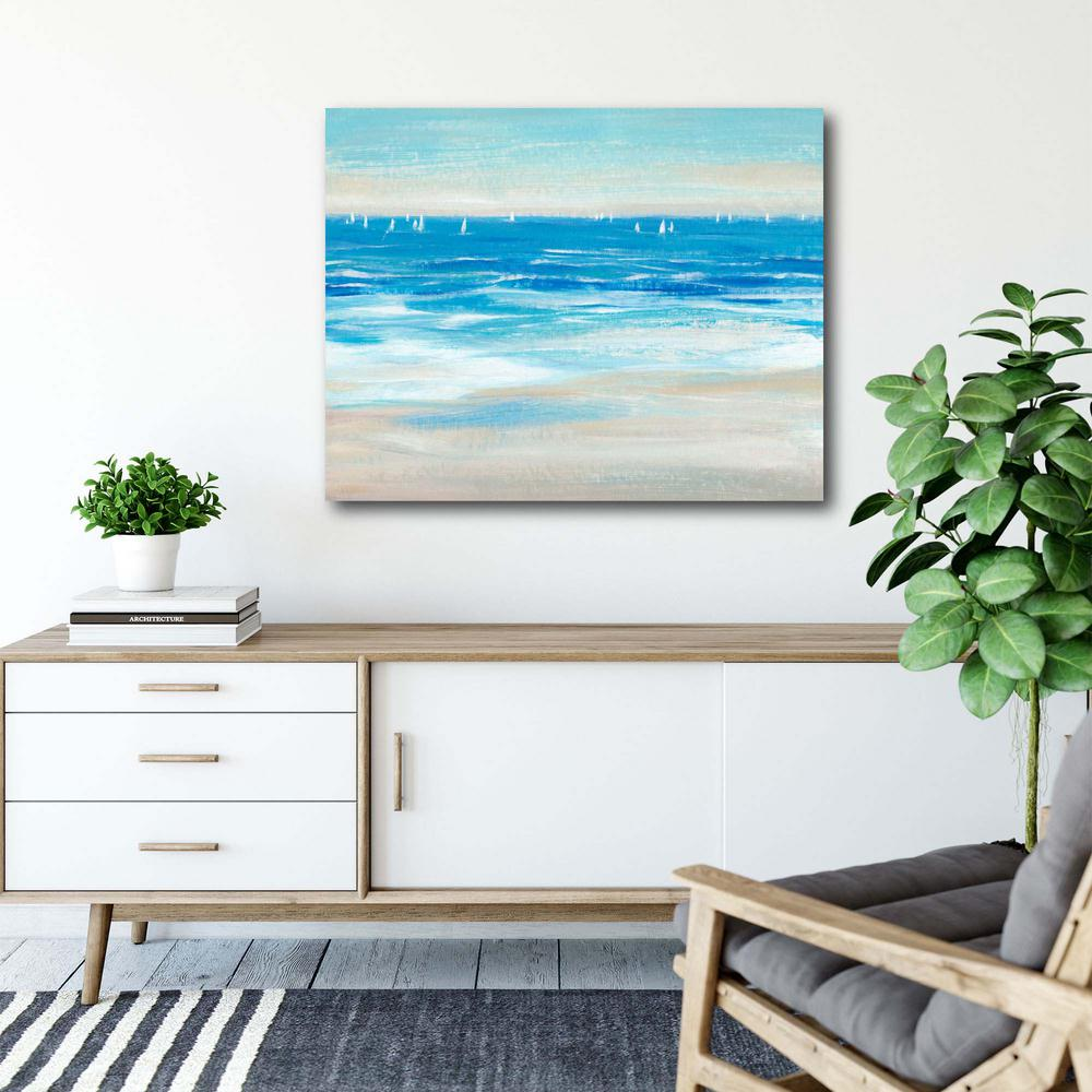 Courtside Market Low Cerulean Tide II 16 in. x 20 in. Gallery-Wrapped Canvas Wall Art, Multi Color was $70.0 now $38.93 (44.0% off)