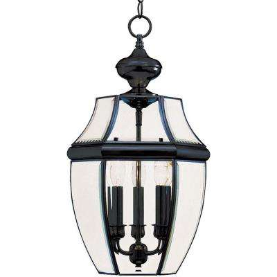 South Park 3-Light Black Outdoor Hanging Lantern
