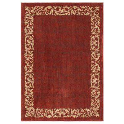 Madison Burgundy 5 ft. x 8 ft. Area Rug
