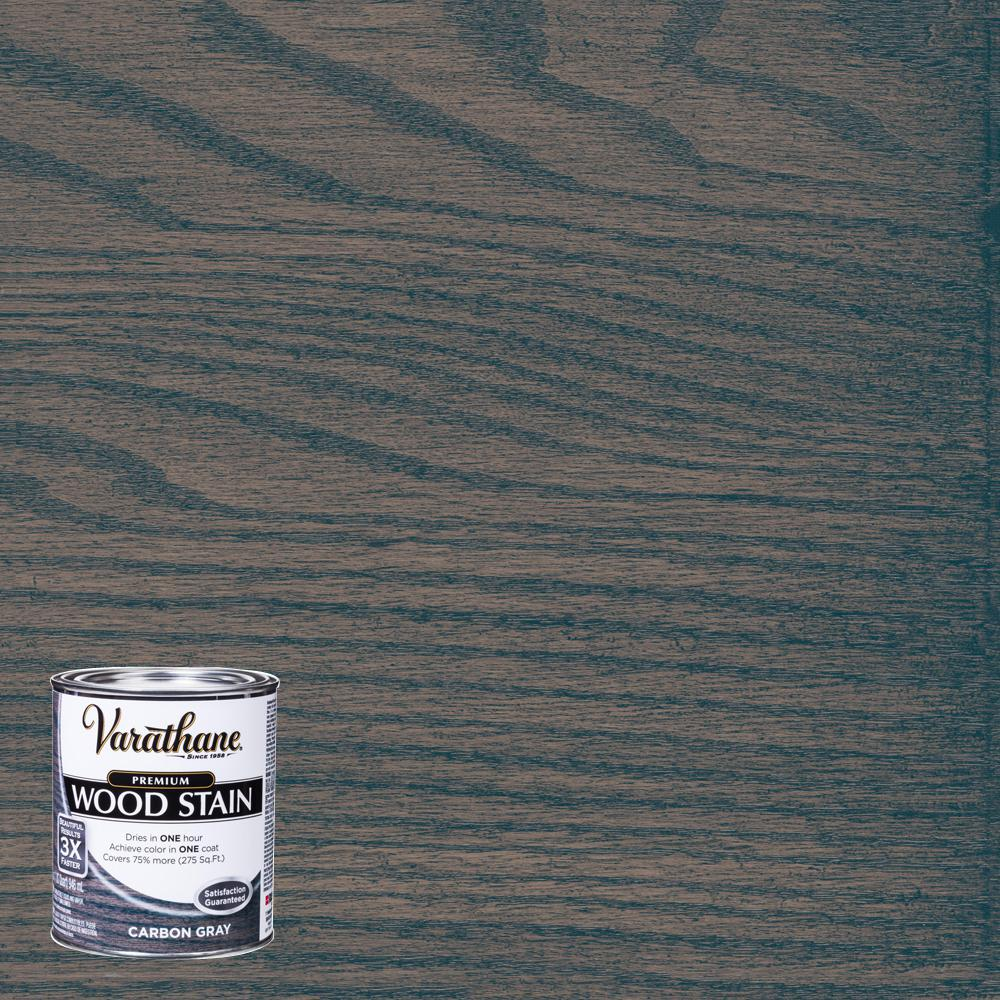 The Perfect Grey Wood Stain: Varathane 1 Qt. Carbon Gray Premium Fast Dry Interior Wood
