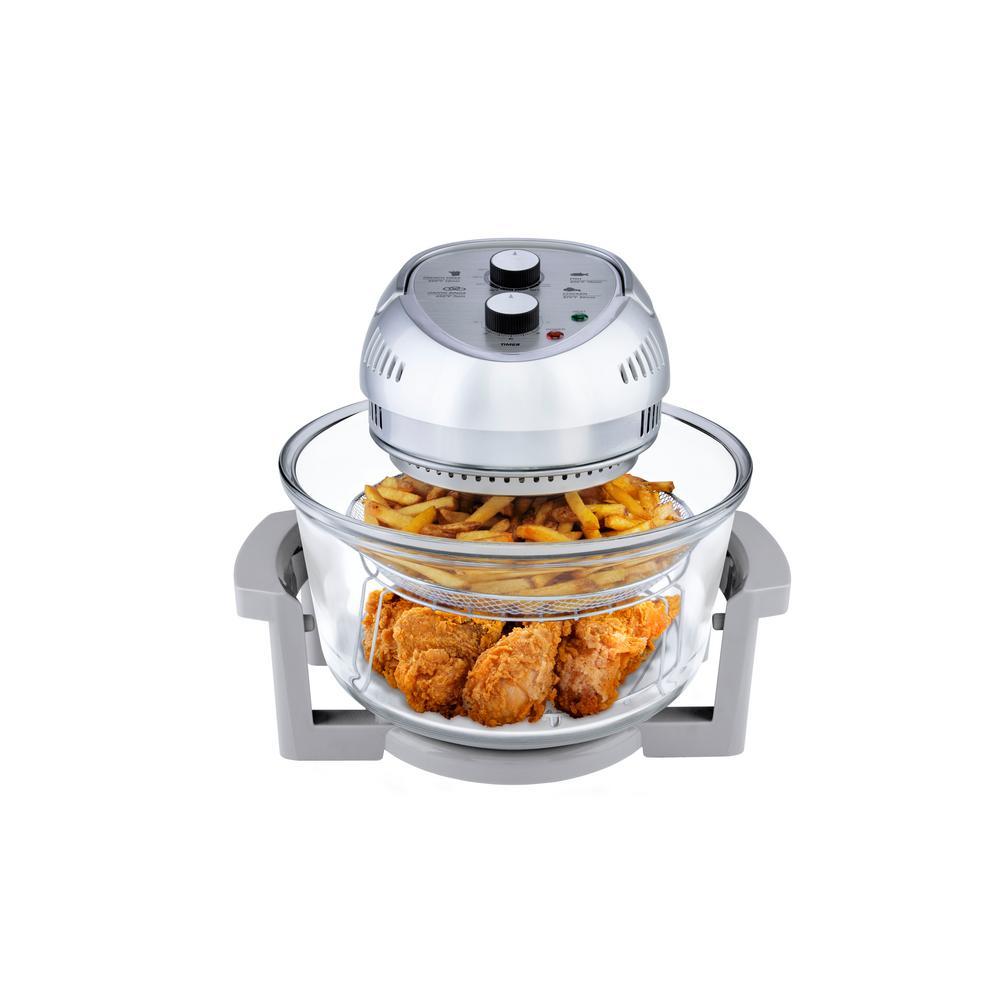 16 Qt. Convection Countertop Oil-less Fryer Oven, Silver