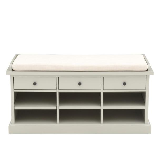 Hampton Storage Grey Bench Home Decorators Collection