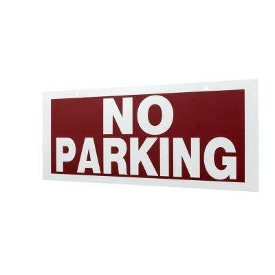 6 in. x 15 in. Plastic No Parking Sign