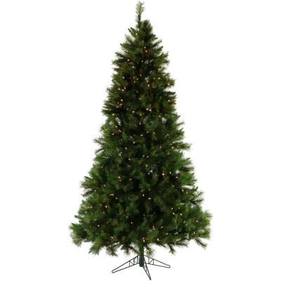 7.5 ft. Pennsylvania Pine Artificial Christmas Tree with Clear LED String Lighting