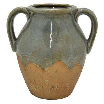 10 in. Green Ceramic Vase