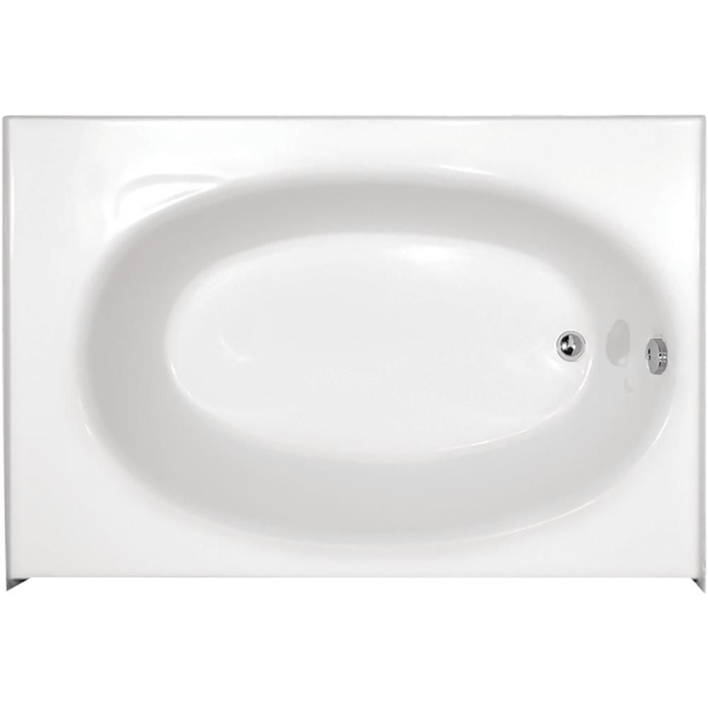 Kona 60 in. Right Drain Rectangular Alcove Bathtub in White