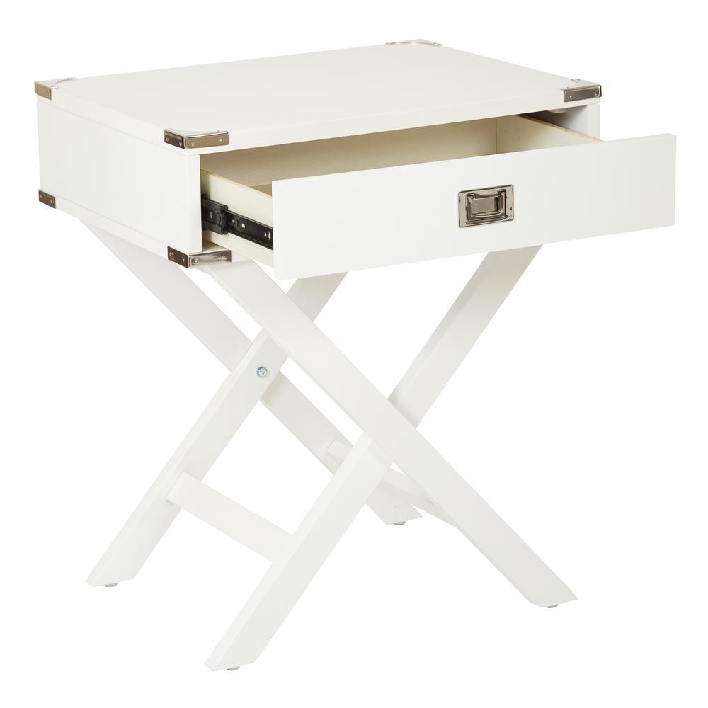 Wellington White Side Table