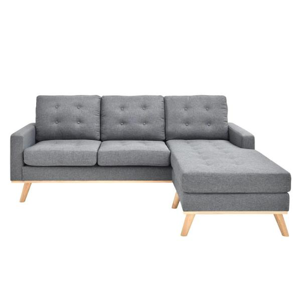 AC Pacific Shelby Collection Grey Mid-Century Modern Polyester ...