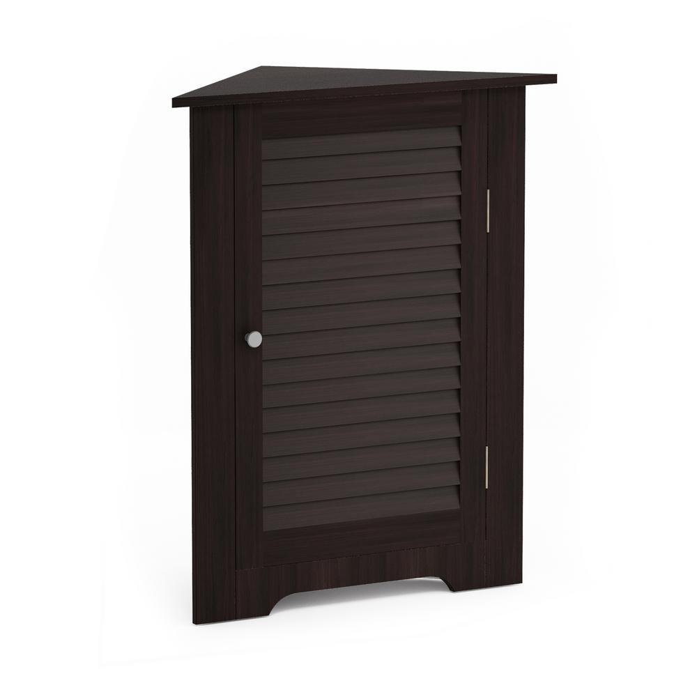 Indo Espresso Corner Louver Door Cabinet
