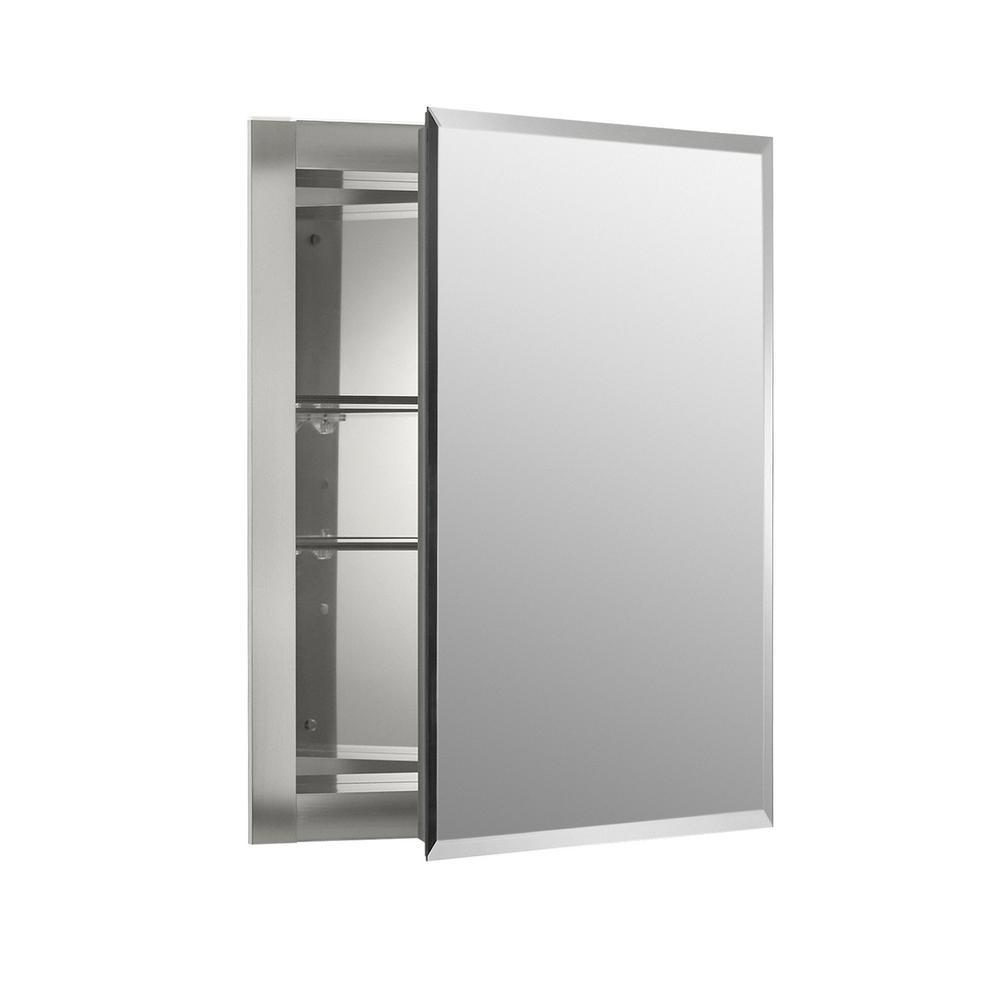 15.5 in. W x 19.5 in. H x 5 in. D Aluminum Recessed Medicine Cabinet