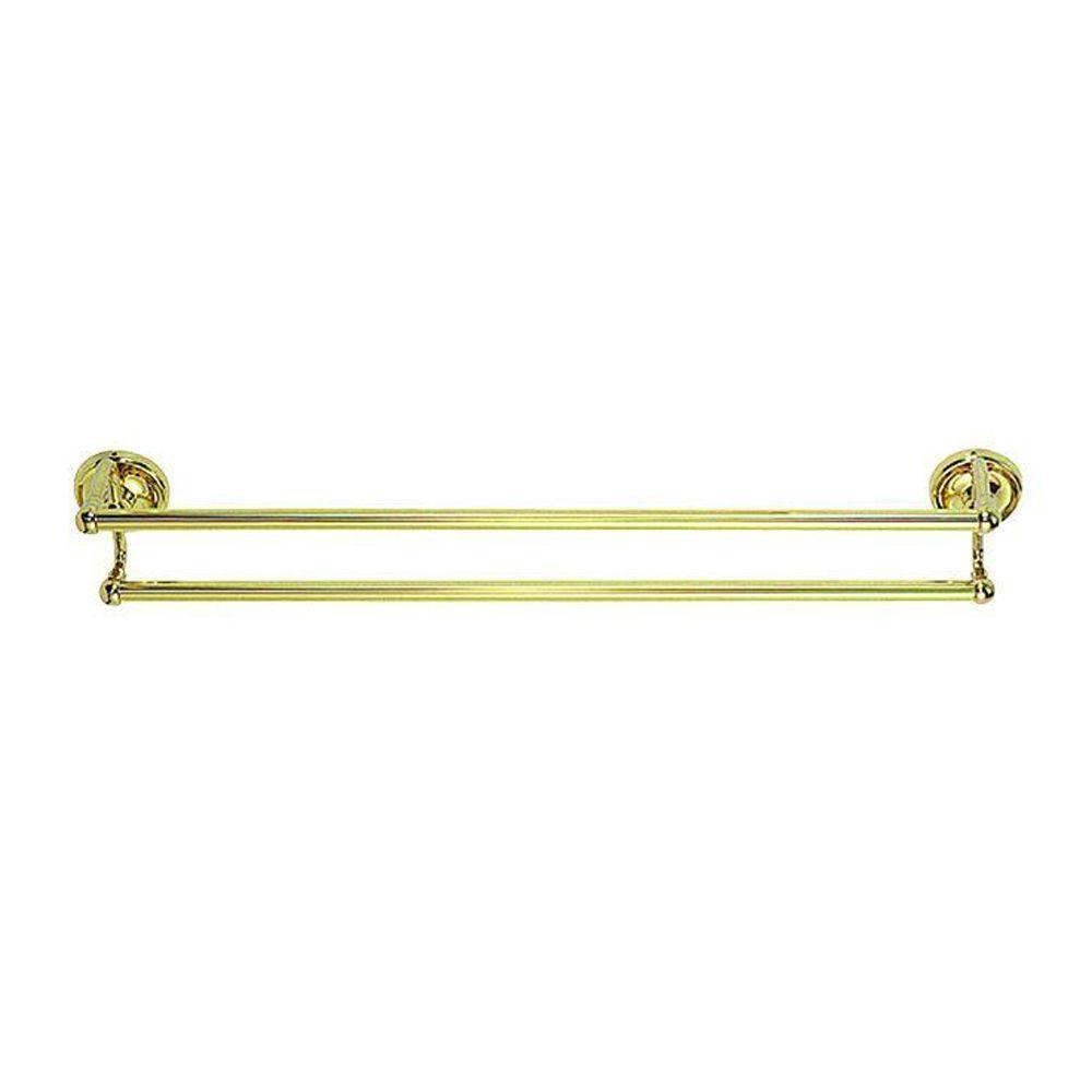 Elizabethan Classics 24 in. Towel Bar in Polished Brass