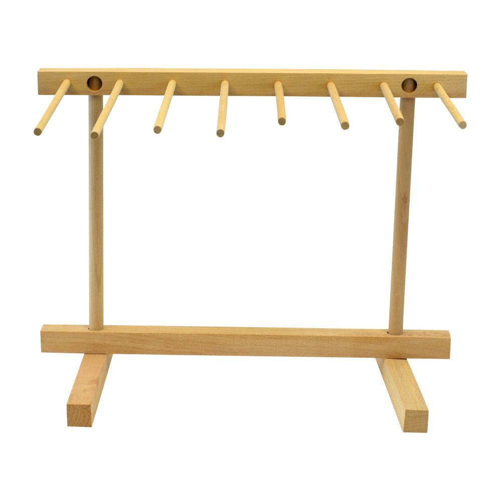 Southern Homewares Natural Beechwood Collapsible Wooden Pasta Drying Rack This Southern Homewares brand pasta drying rack is the perfect addition to any kitchen. Featuring classic unfinished Beechwood construction this rack is perfect for drying that fresh homemade pasta. The rack stands 16 in. tall to ensure even the longest linguine, fettuccine, or spaghetti won't touch the counter when it is draped on the broad 8 in. arms of the rack. Assembly is as easy and collapsible design folds down to 16 in. x 12 in. x 1 in. in size, perfect for easy storage when not in use.