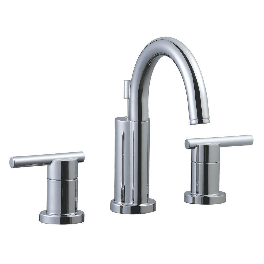 Geneva 8 in. Widespread 2-Handle Bathroom Faucet in Polished Chrome