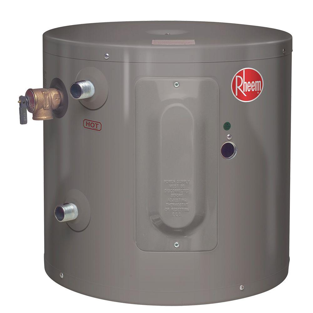 Rheem Performance 6 Gal 6 Year 2000 Watt Single Element Electric Point Of Use Water Heater Xe06p06pu20u0 The Home Depot