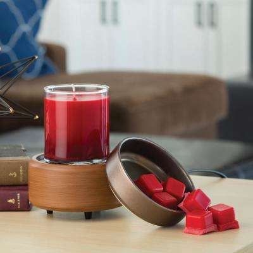 5.2 in Pewter Walnut 2-in-1 Classic Fragrance Warmer