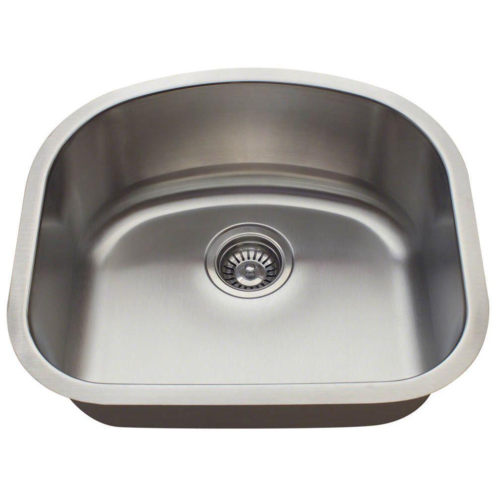 Polaris Sinks Undermount Stainless Steel 20 in. Single Bowl Kitchen ...