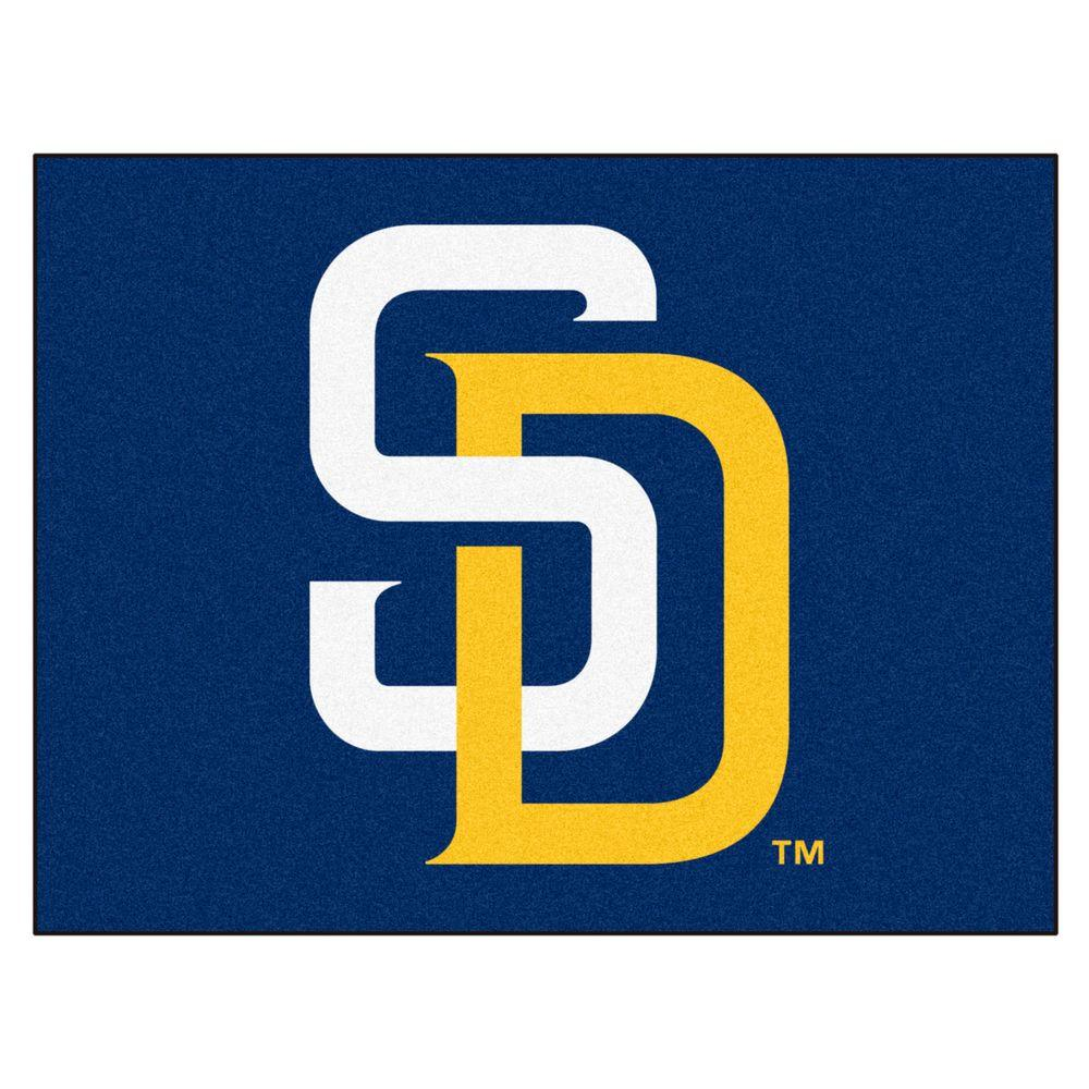 Fanmats San Diego Padres 2 Ft 10 In X 3 Ft 9 In All