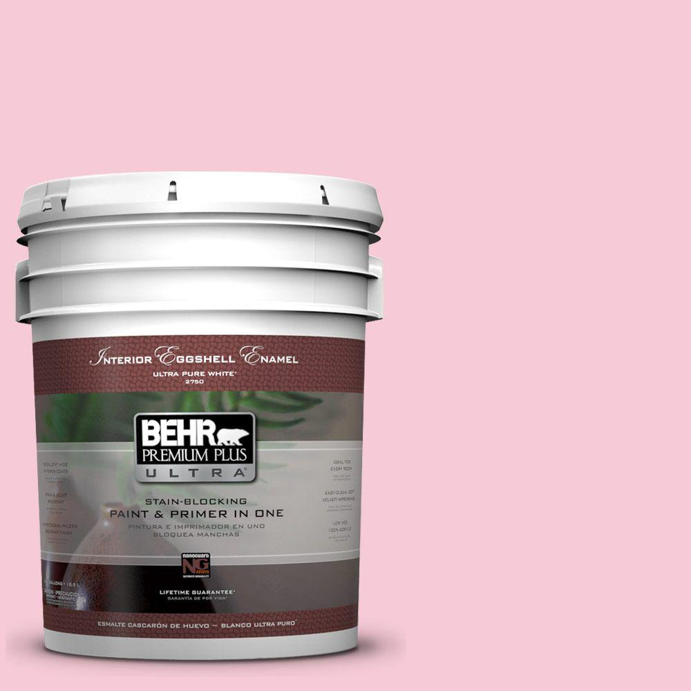BEHR Premium Plus Ultra 5-gal. #110A-3 Palace Rose Eggshell Enamel Interior Paint