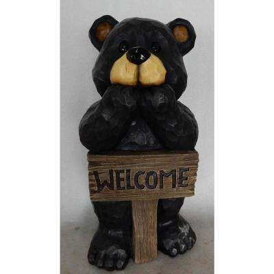 Bear Welcome Sign Statue