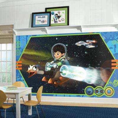 72 in. x 126 in. Miles From Tomorrowland XL Chair Rail 7-Panel Prepasted Mural