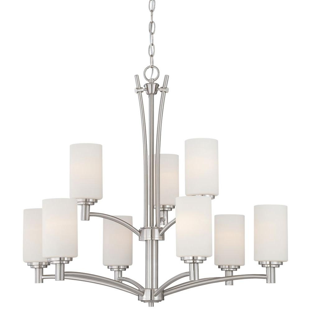 Pittman 9-Light Brushed Nickel Hanging Chandelier