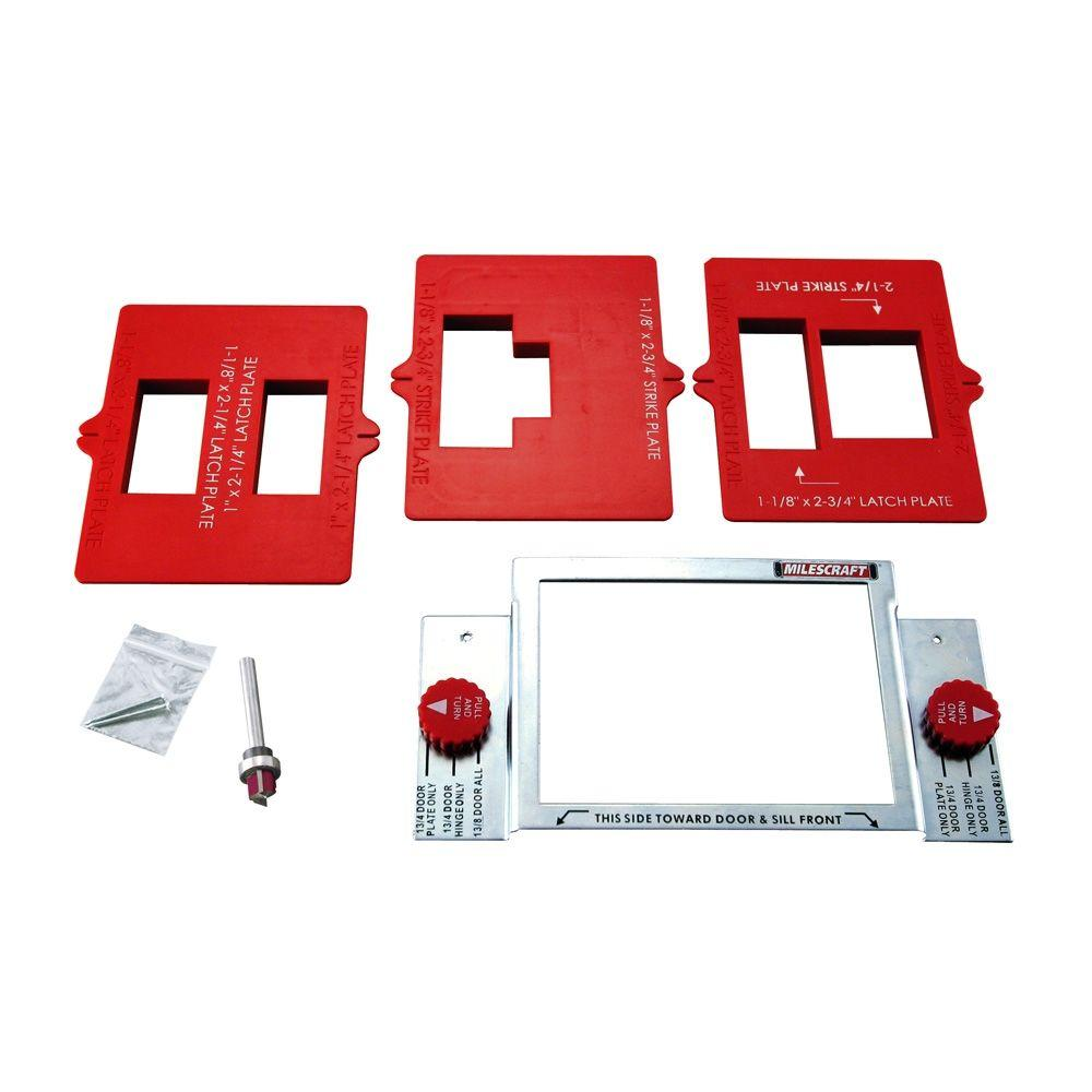 Milescraft Strike Plate Mortising Kit for Routers