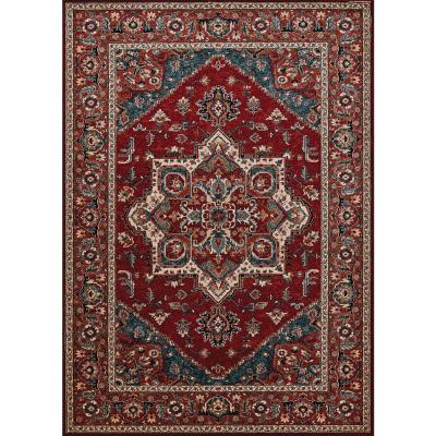 Couristan Old World Classics Pazyrk Antique Red 8 Ft X 11 Ft Area Rug 16601300710111t The Home Depot