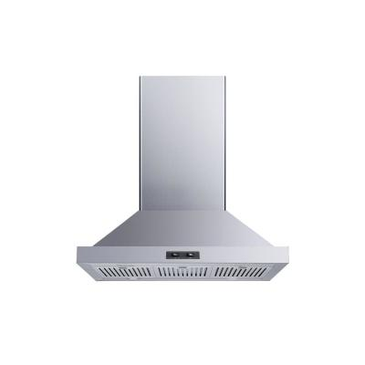 30 in. Convertible Island Mount Range Hood in Stainless Steel with Baffle Filters