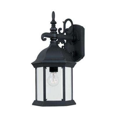 Erving Collection Black Outdoor Wall-Mount Lantern