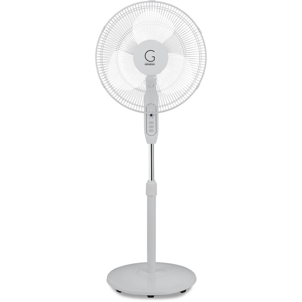 Adjustable Height Oscillating Max Cool Stand Fan with Electronic Controls and