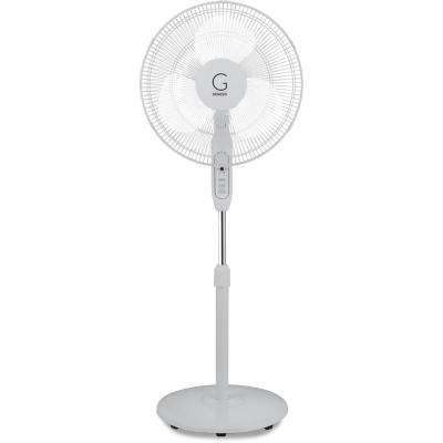 Adjustable Height Oscillating Max Cool Stand Fan with Electronic Controls and Remote, White