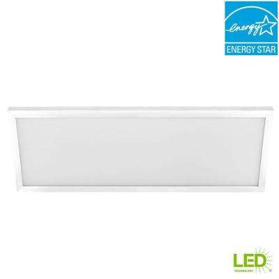 1 ft. x 4 ft. 50-Watt White Integrated LED Edge-Lit Flat Panel Flushmount