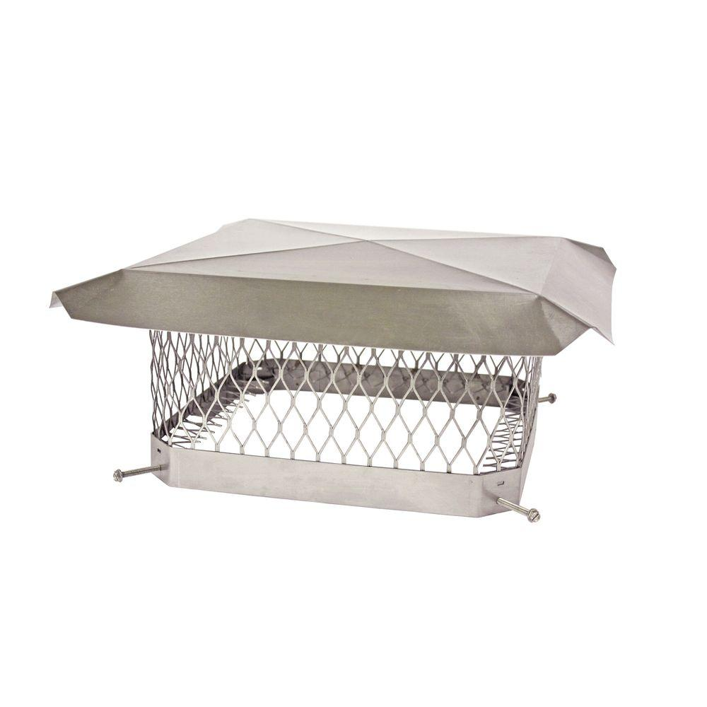 Shelter 13 in. x 18 in. Mesh Chimney Cap in Stainless Steel