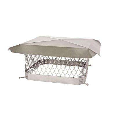 13 in. x 18 in. Mesh Chimney Cap in Stainless Steel